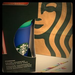 Starbucks Colors Cups with 2 Rainbow straws